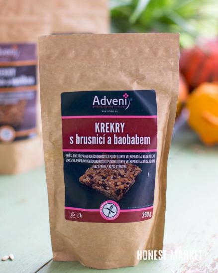 Krekry s brusnicí a baobabem 250g