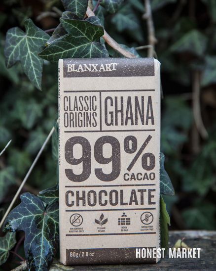 Hořká čokoláda 99% Ghana 80g