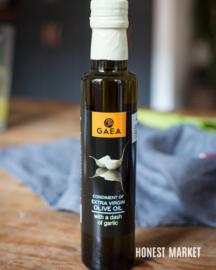 Aromatický  extra panenský olivový olej s trochou česneku GAEA 250ml