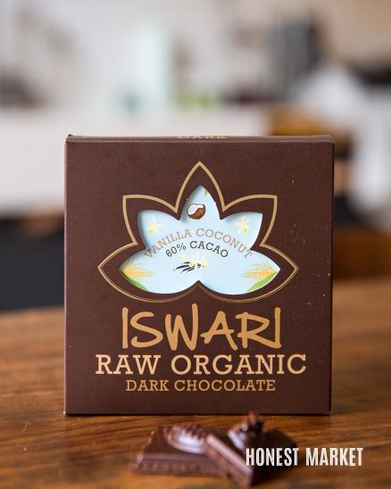 Čokoláda vanilka/kokosový krém 80% RAW BIO 75g