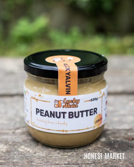 Arašídové máslo křupavé 330g