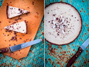 Nepečený raw straciatella dort