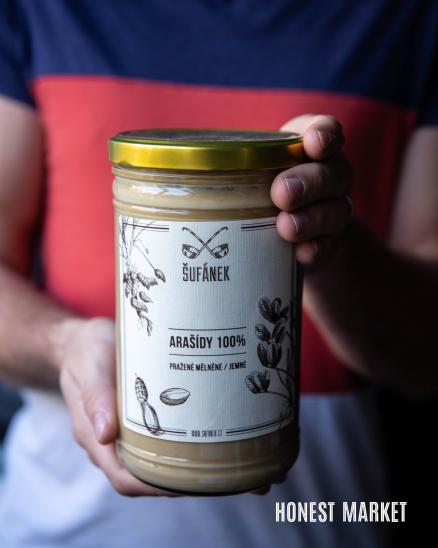 Arašídové máslo pražené jemné, 1000g