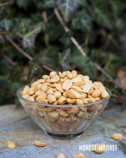 Arašídy pražené nesolené 1kg