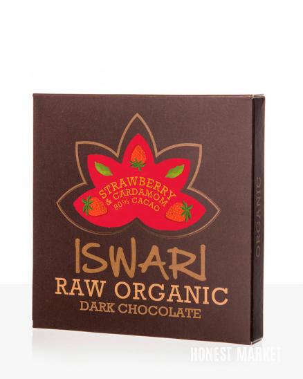 Čokoláda RAW Jahoda Kardamon 80 % BIO 75g