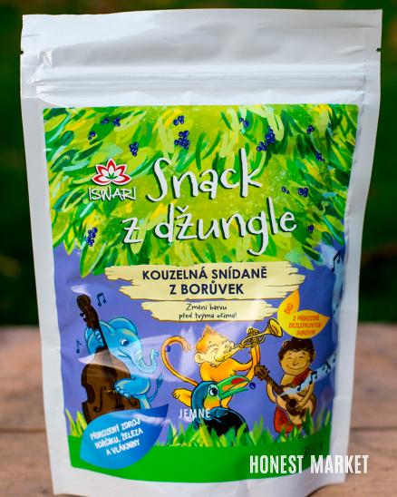 Dětská snídaňová kaše BIO - Snack z džungle borůvka 300 g