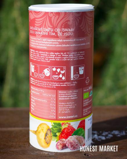 Snídaňová směs maca moruše jahody BIO 800g