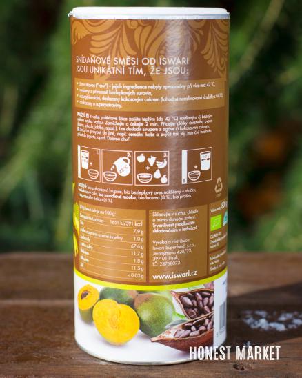 Snídaňová směs kakao lucuma BIO 800g