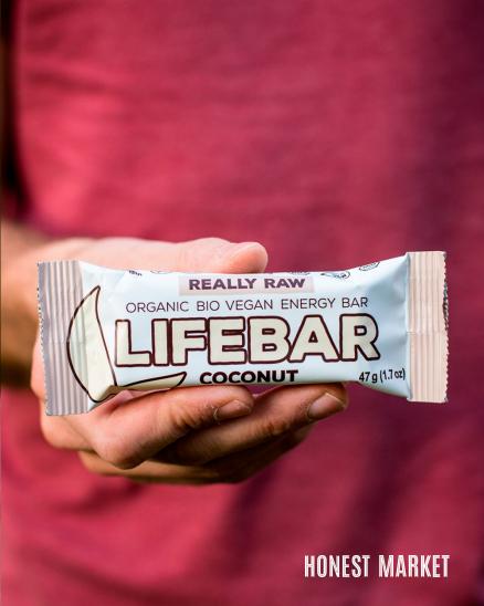 Lifebar tyčinka kokosová RAW BIO 47g