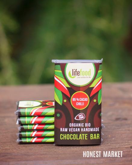 Čokoláda mini RAW BIO 95% kakao chilli 15g