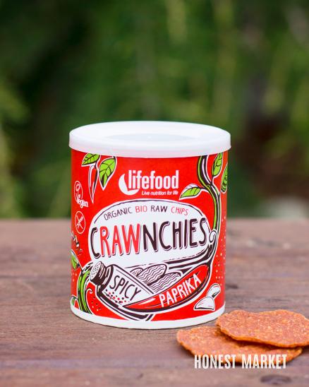 Crawnchies pikantní s paprikou BIO RAW 30g