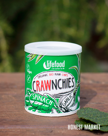 Crawnchies špenátové s česnekem BIO RAW 30g