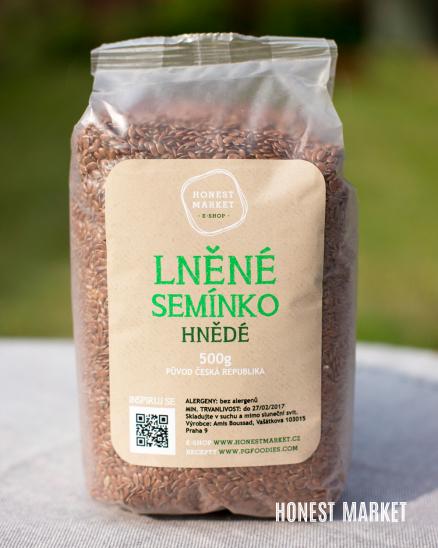 Lněná semínka hnědá, 500 g