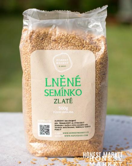 Lněná semínka zlatá, 500 g