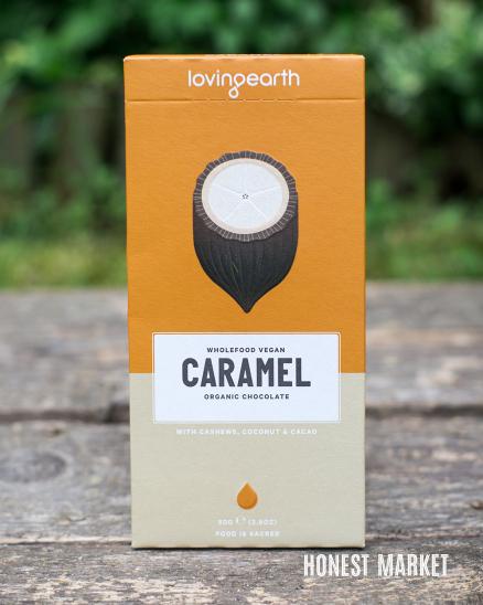 Veganská raw čokoláda karamel BIO 80g