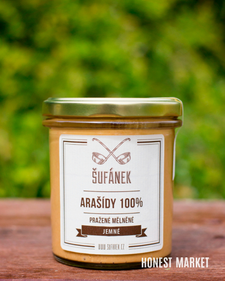 Arašídové máslo pražené jemné, 330g