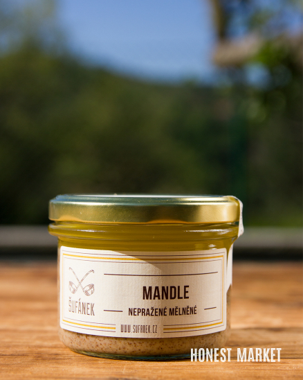 Mandlové máslo 100%, pražené mělnené, 190g