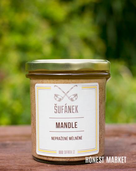 Mandlové máslo pražené 100%, 330g